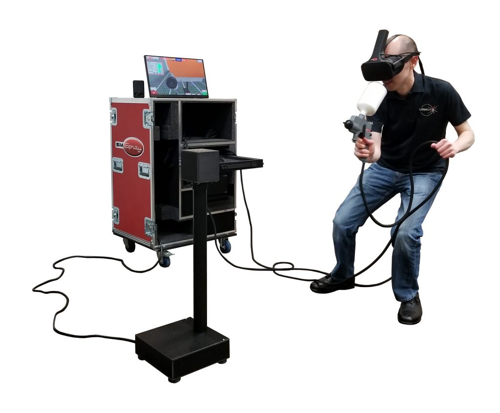 SimSpray Virtual Reality Training